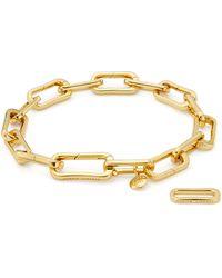 Monica Vinader - Alta Capture Link Chain Bracelet - Lyst