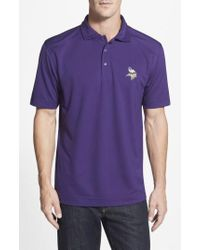 Cutter & Buck - 'Minnesota Vikings - Genre' Drytec Moisture Wicking Polo - Lyst