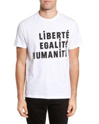 French Connection - Egalite Regular Fit Graphic T-shirt - Lyst