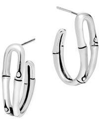 John Hardy | 'bamboo' Small Hoop Earrings | Lyst