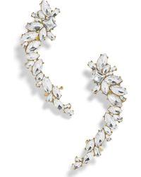 BaubleBar - Large Crystal Crawler Earrings - Lyst