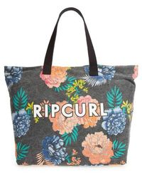 Rip Curl - Delilah Floral Print Beach Tote - - Lyst