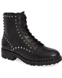 Ash - Wolf Studded Combat Boot - Lyst