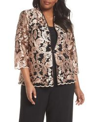 Alex Evenings - Top & Embroidered Jacket - Lyst