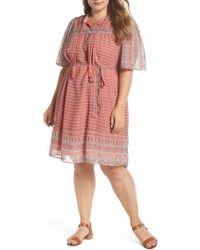 Lucky Brand - Jenna Print Peasant Dress - Lyst