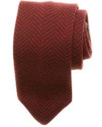 Hook + Albert - Herringbone Knit Wool Tie - Lyst