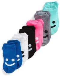Sof Sole - 6-pack All Smiles No-show Socks, Blue - Lyst