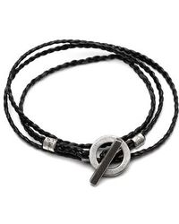Title Of Work - 3-wrap Braided Leather Bracelet - Lyst