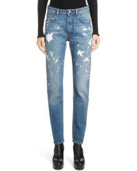 Acne Studios - Paint Splatter Jeans - Lyst