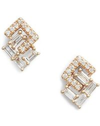 Dana Rebecca - Dana Rebecca Sadie Interlock Diamonds Stud Earrings - Lyst