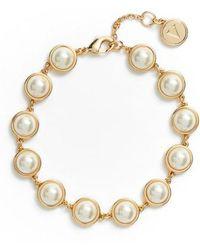 Vince Camuto - Imitation Pearl Bracelet - Lyst