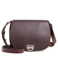 Shinola - Calfskin Leather Shoulder Bag - Purple - Lyst