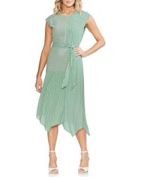 Vince Camuto - Linear Motion Midi Dress - Lyst
