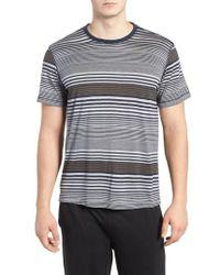 Daniel Buchler - Stripe Silk & Cotton T-shirt - Lyst