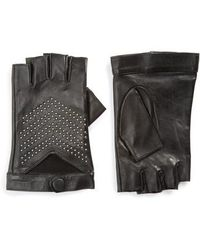 Mackage - Swinley Fingerless Lambskin Leather Gloves - Lyst