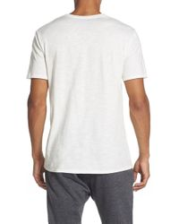 The Rail - Slub Cotton V-neck T-shirt - Lyst