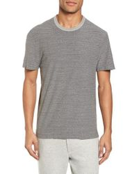 James Perse - Microstripe Ringer T-shirt - Lyst