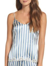 Morgan Lane - Jac Stripe Silk Camisole - Lyst