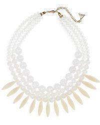 Serefina - Mixed Stone Statement Necklace - Lyst