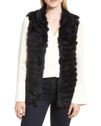 La Fiorentina - Genuine Rabbit Fur & Acrylic Knit Vest - Lyst