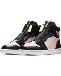 1e837c1eda991c Jordan Red Leather Trainers.  192. Vestiaire Collective · Nike - Air Jordan  1 Zip High Top Sneakers - Lyst