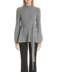 Co. - Belted Cashmere Blend Sweater - Lyst