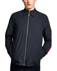 TOPMAN - Stripe Sleeve Shirt Jacket - Lyst
