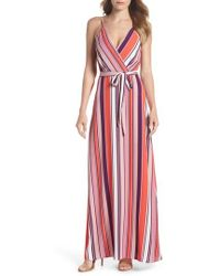 Charles Henry - Belted Cami Maxi Dress - Lyst