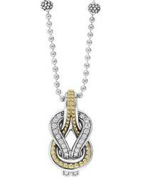 Lagos | 'newport' Diamond Knot Pendant Necklace | Lyst