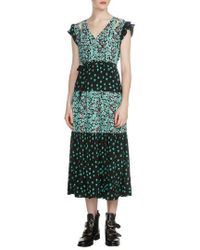 Maje | Renoli Mixed Print Midi Dress | Lyst