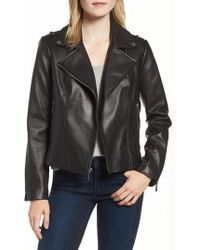 MICHAEL Michael Kors - Classic Leather Moto Jacket - Lyst