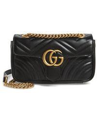 Gucci - Mini Gg Marmont 2.0 Matelasse Leather Shoulder Bag - Lyst