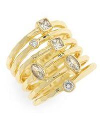 Melinda Maria - Monroe Stacked Ring - Lyst