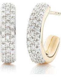 Monica Vinader - Fiji Mini Diamond Hoop Earrings - Lyst