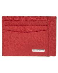 BOSS - Signature Leather Card Case - Lyst