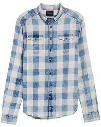 Scotch & Soda - Amsterdams Blauw Check Shirt - Lyst
