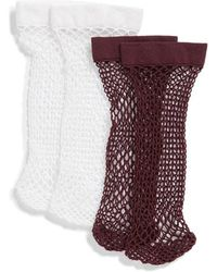 Nordstrom - 2-pack Fishnet Ankle Socks - Lyst