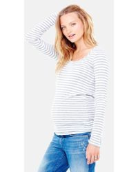 Ingrid & Isabel - Ingrid & Isabel Stripe Scoop Neck Maternity Tee - Lyst
