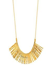 Gorjana - Kylie Fan Necklace/ Gold - Lyst