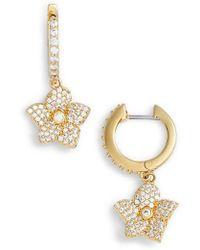 Kate Spade - Blooming Pave Drop Earrings - Lyst