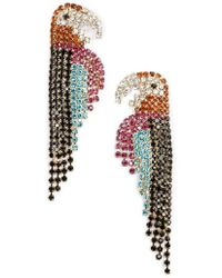 Mad Jewels - Polly Parrot Rhinestone Statement Earrings - Lyst