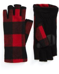 Echo - Plaid Fingerless Gloves - Lyst