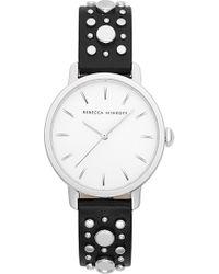 Rebecca Minkoff - Bffl Studded Leather Strap Watch - Lyst