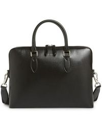 Burberry - 'new London' Calfskin Leather Briefcase - Lyst