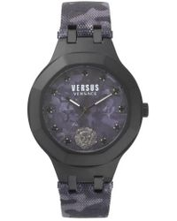 Versus - Versus By Versace Laguna City Leather Strap Watch - Lyst
