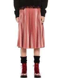 Scotch & Soda - Shiny Pleated Midi Skirt - Lyst