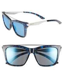 b5a5154231 Smith - The Runaround 55mm Chromapop(tm) Polarized Sunglasses - Lyst