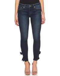 Cece - Bow-trim Skinny Jeans - Lyst