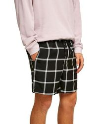 TOPMAN - Windowpane Swim Trunks - Lyst