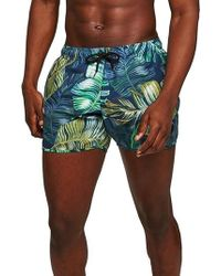 TOPMAN - Print Swim Trunks - Lyst
